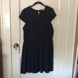 Plus size navy blue darling dress